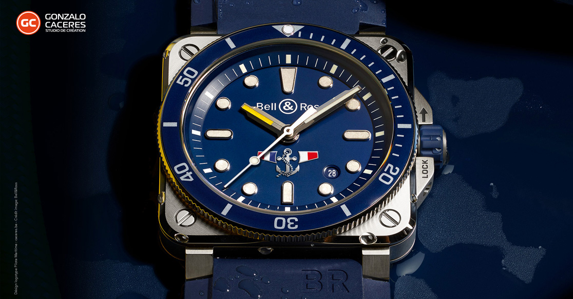 Logotype montre Bell & Ross Pilotage Maritime © Gonzalo Caceres