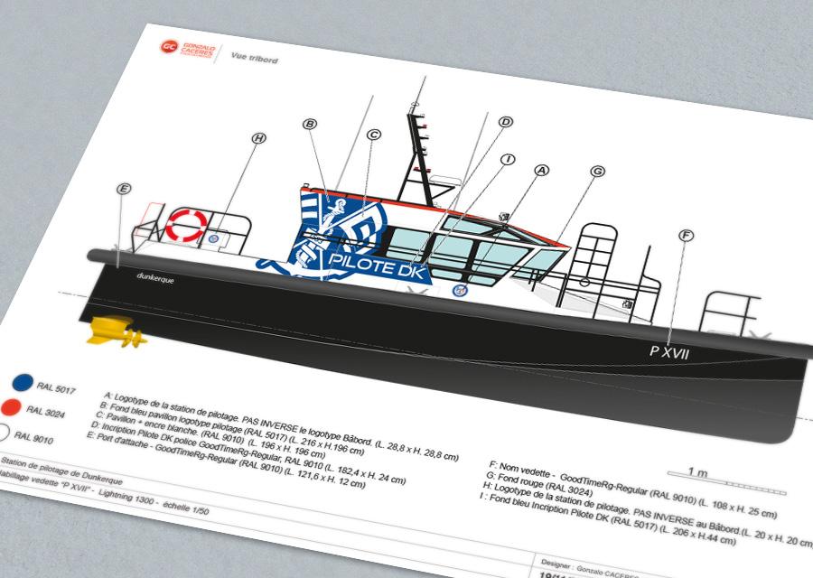 Pilotage maritime de Dunkerque - Identité visuelle - site web - covering vedette © Gonzalo Caceres